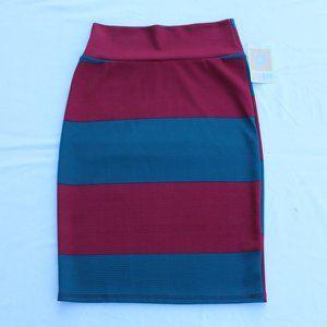 LuLaRoe Cassie Striped Pencil Skirt